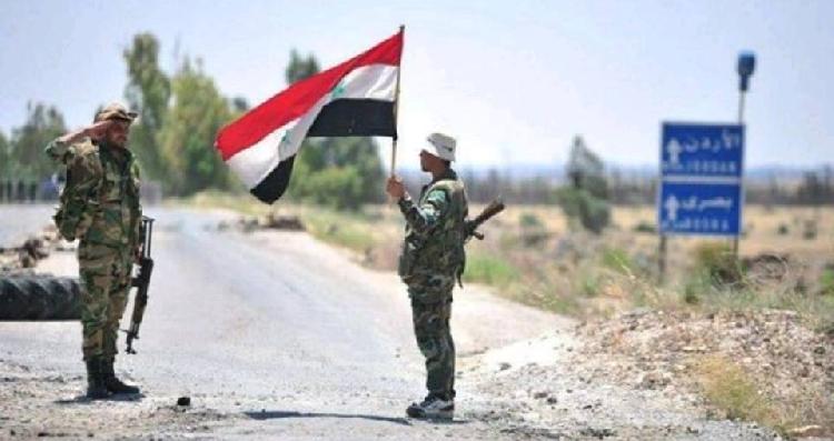 جيش النظام السوري يعثر على مستودعات أسلحة ثقيلة بالقرب من معبر نصيب