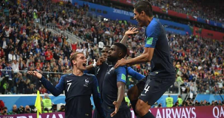 فرنسا تتأهل إلى نهائي كأس العالم بعد الفوز على بلجيكا بهدف نظيف