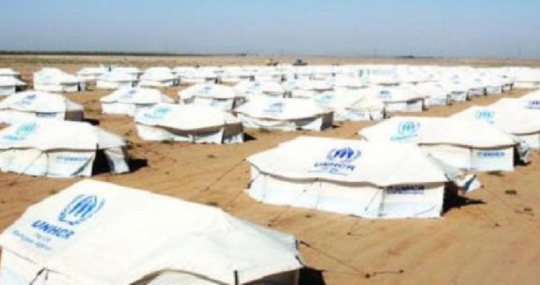 حريق بكرفانات مستخدمة كمحال تجارية في الزعتري