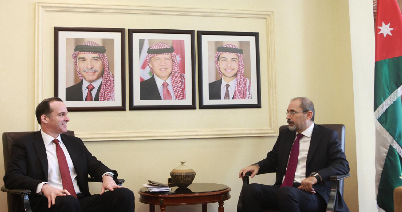 الصفدي يلتقي مبعوث الرئيس الأميركي للتحالف ضد الإرهاب