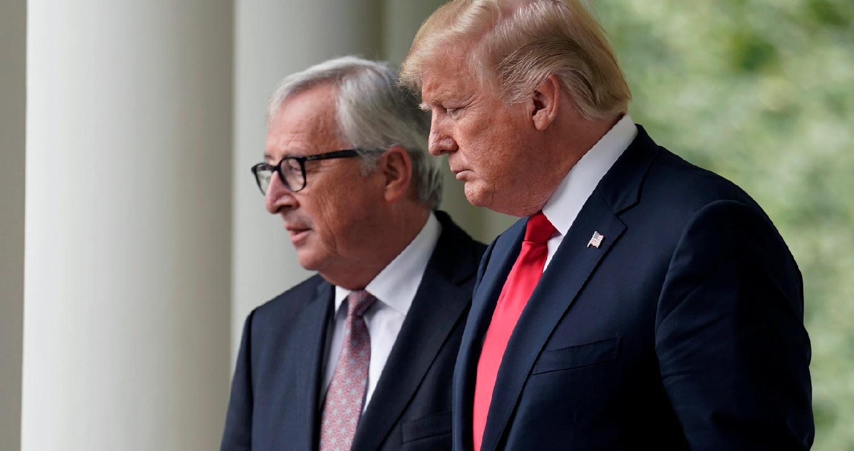 أعلنالرئيس الأمريكي دونالد ترامبأنه إتفقورئيس المفوضية الأوروبية جون كلود يونكرعلىبدء محادثات مشتركةلتفادى حرب تجارية شاملةبين الولايات المتحدة