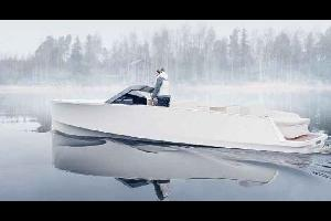 """كشفت  شركة """"Q-Yachts"""" الفنلندية  عن قارب كهربائي ."""