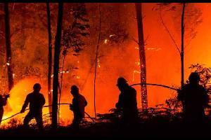 اوروبا .. انحسار الحر واستمرار الحرائق