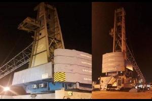 نقل ثاني اكبر رافعة بضائع الى الميناء الجديد بالعقبة