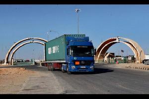 عدد شاحنات النقل بين العراق والأردن