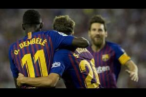 برشلونة يحقق فوزا صعبا على بلد الوليد