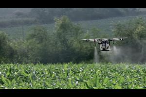 بدأ المزارعون في الصين بإستخدام الدرونات في رش المحاصيل الزراعية بالمبيدات الحشرية، وكذلك في ريها بالماء، دون الضرورة لمغادرة منازلهم أو التواجد في ال