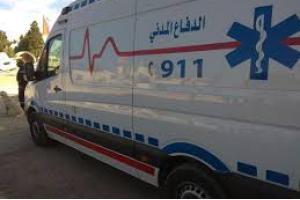 الدفاع المدني يتعامل مع حادث تدهور وهمي واصابة 25 شخصا في معان (صور)