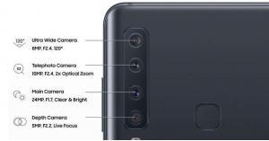 سامسونغ تطلق هاتفا بـ 4 كاميرات خلفية