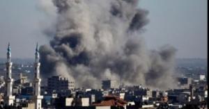 استشھاد فلسطیني بالقصف على غزة