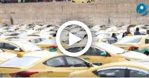 اعتصام سائقي التاكسي أمام مجلس النواب.. فيديو