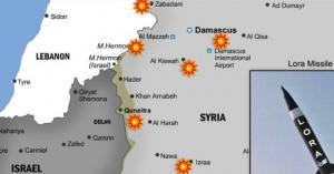 آخر الضربات الصهيونية الموجهة الى سوريا
