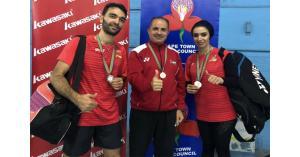3 ميداليات للأردن ببطولة جنوب افريقيا للريشة
