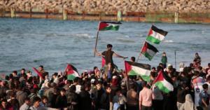 19 إصابة بقمع الإحتلال المسير البحري الـ 19 بغزة