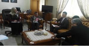 يلتقي وفد الوكالة اليابانية للتعاون الدولي جايكا