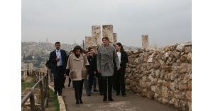 عقيلة الرئيس البلغاري تزور جبل القلعة ومركز الكرمة