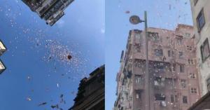 بالصور.. السماء تمطر مالاً في هونغ كونغ