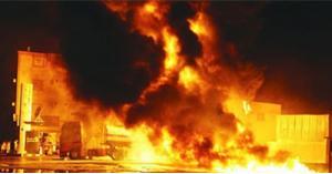 وفاة اثر احتراق محطة غسيل سيارات في إربد