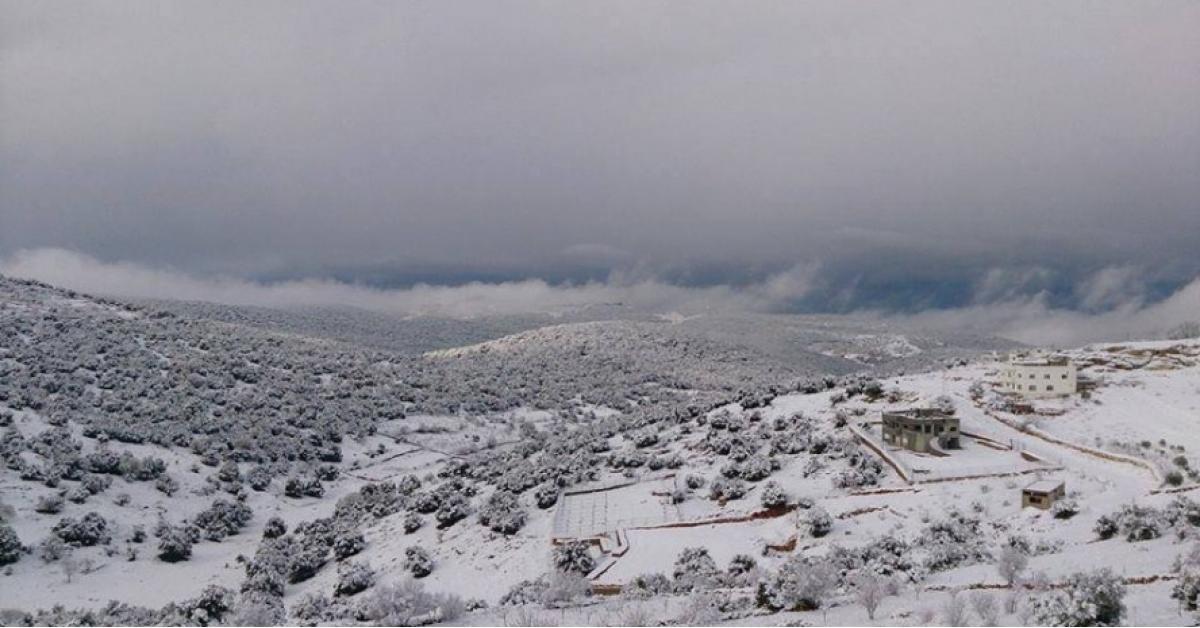 عاصفة ثلجية تؤثر على بلاد الشام وتركيا.. صورة