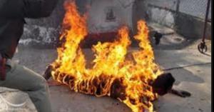 امرأة حرقت نفسها على الحدود السورية الأردنية