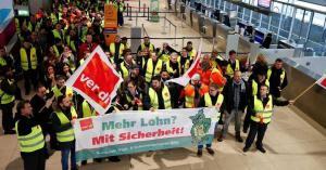 إضراب موظفي الامن في ألمانيا يثير الفوضى