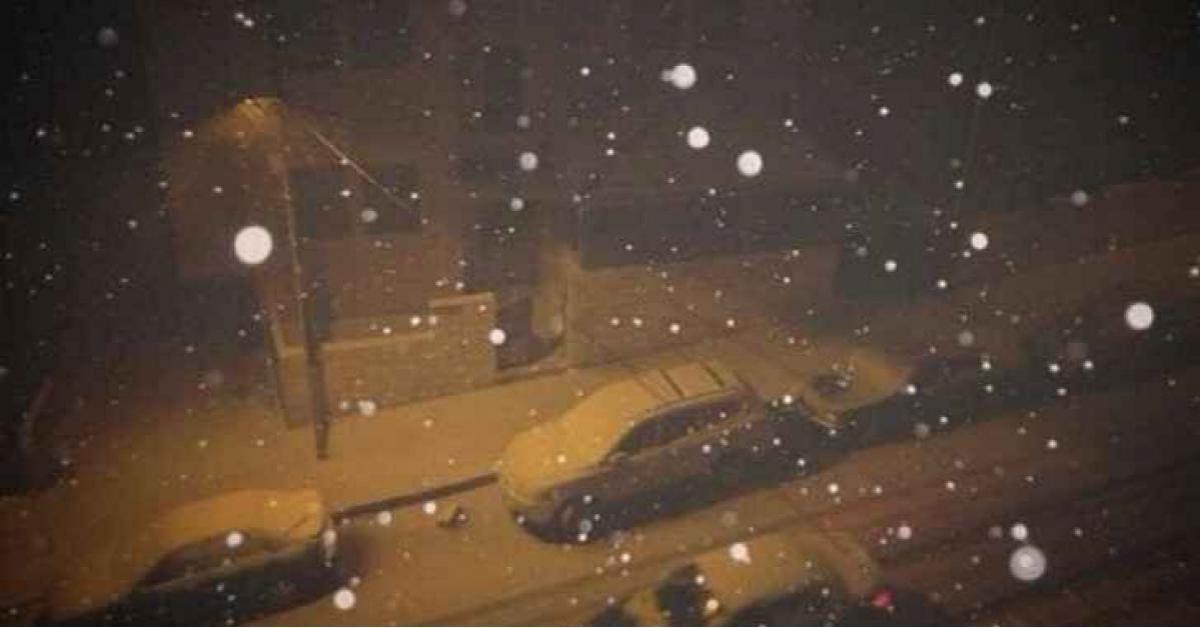 شاهد بالفيديو.. بدء تساقط الثلوج في المملكة