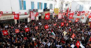 اضراب في تونس اليوم