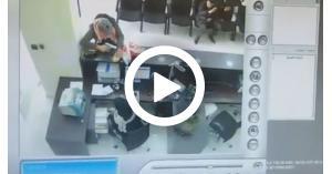 لحظة السطو على بنك الاسكان.. فيديو