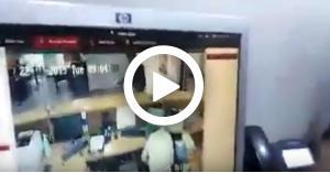 لحظة السطو على بنك سحاب.. فيديو