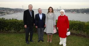 الملك واردوغان في قصر وحيد الدين بإسطنبول