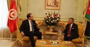 الملك يلتقي رئيس الوزراء التونسي