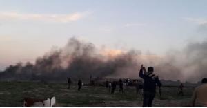 """اصابات خلال """"الارباك الليلي"""" وسط قطاع غزة (صور)"""