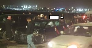 حادث سير يفسد فرحة عروسين في اربد.. صور