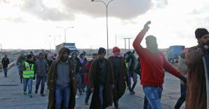 وقفة تضامنية في العقبة مع المشاركين في المسير