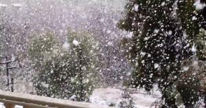 سحابة محملة بالثلوج في طريقها الى المملكة