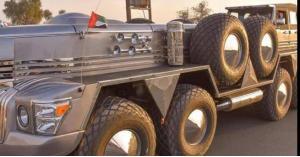 """السيارة """"الوحش"""" التي يملكها أحد أفراد العائلة الحاكمة في أبو ظبي.. فيديو"""