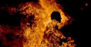 ستيني يحرق نفسه في جرش