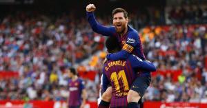 بالفيديو.. برشلونة يقلب الطاولة عل اشبيلية.. بهاتريك ميسي ويصنع هدف لسواريز