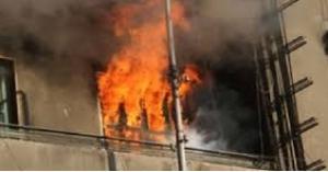 اصابات بحريق شقة في الجوفة