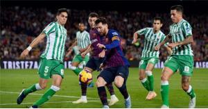 بث مباشر.. مباراة برشلونة وريال بيتيس