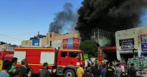 الدفاع المدني يتعامل حريق على جسر ماركا (صور)