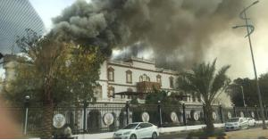 حريق هائل بالقصر الجمهوري في السودان
