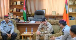 ولي العهد يزور مديرية دفاع المدني العقبة