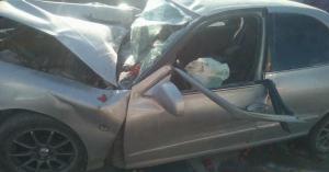 حادث مروع على طريق البحر الميت