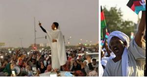 ناشطة سودانية تلفت الأنظار بهتافها ضد البشير بالثوب الأبيض.. فيديو