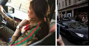 """نجمة سوشال ميديا ترصّع سيارتها """"لامبورغيني"""" بمليوني حبّة سواروفسكي"""