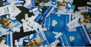 """""""آه يا حنان"""" تظهر في الانتخابات الإسرائيلية.. صورة"""