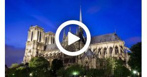 كاتدرائية نوتردام  باريس فرنسا