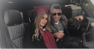 عمر العبداللات يهنئ ابنته (صور)