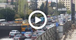 أزمة سير خانقة في شوارع عمان بسبب الباص السريع.. فيديو